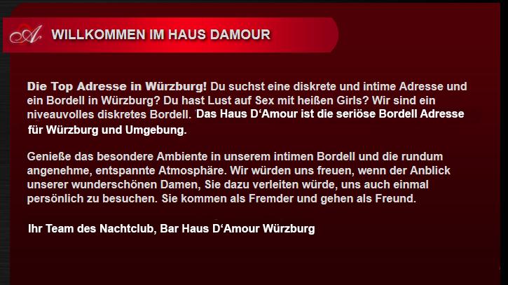Haus DAmour WГјrzburg